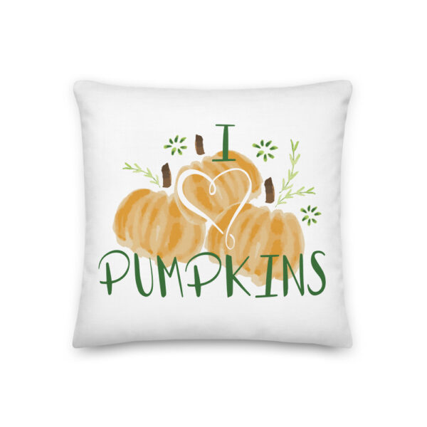 i heart pumpkins pillow
