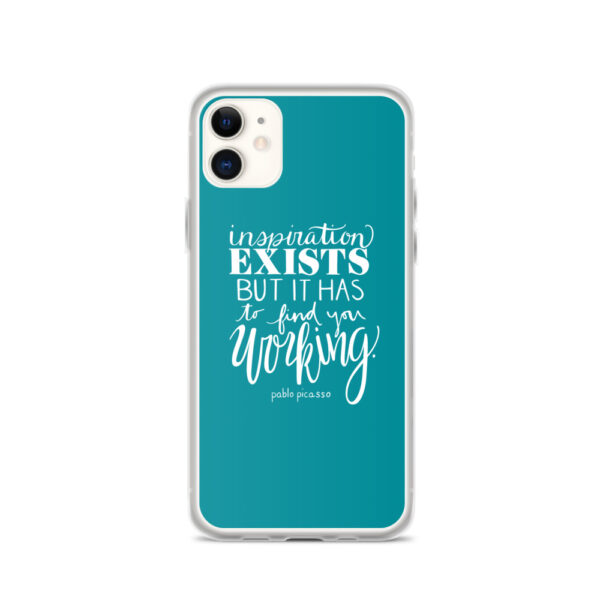 inspiration exists iphone case aqua