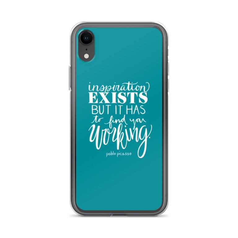 inspiration exists iphone case aqua