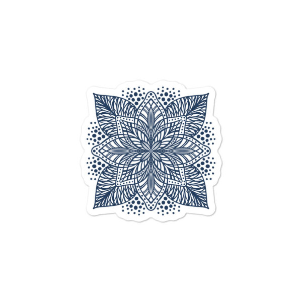 navy flower mandala sticker