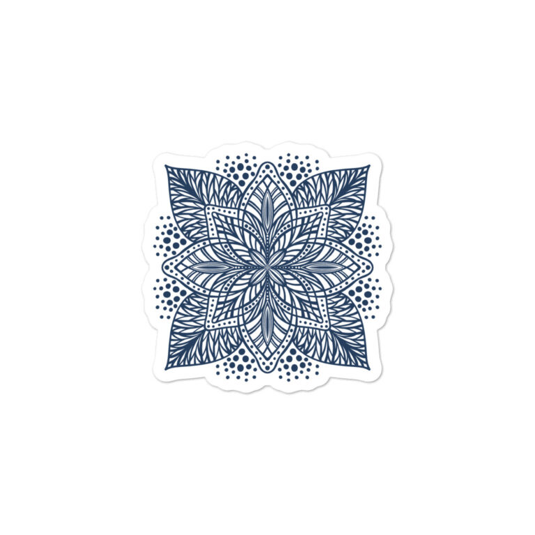 navy flower mandala sticker