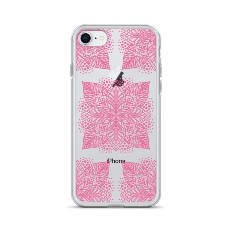 pink flower mandala iphone case