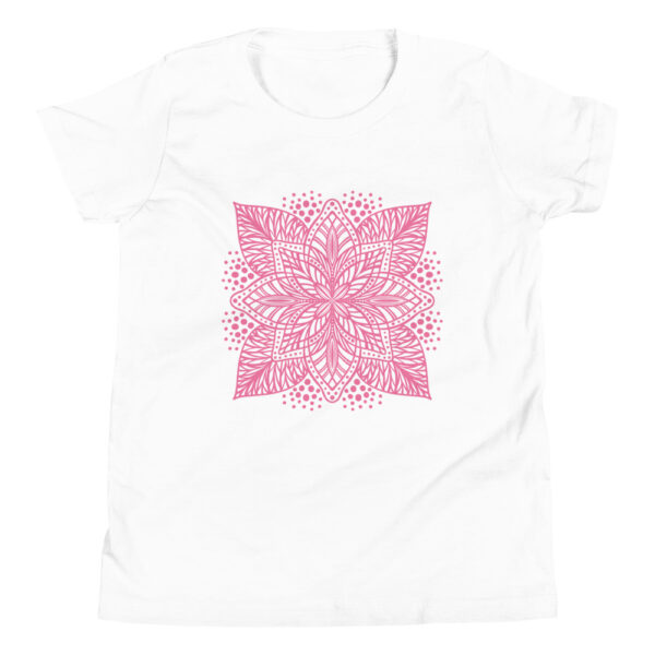 pink flower mandala kids t-shirt