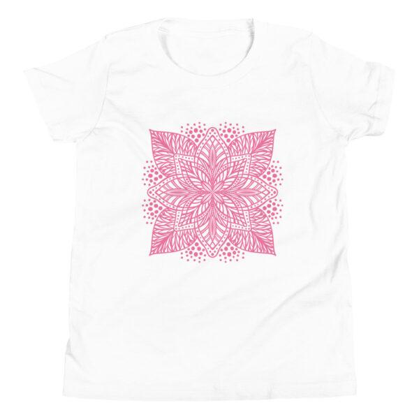 pink flower mandala kids t-shirt