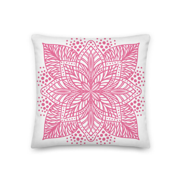 pink flower mandala pillow
