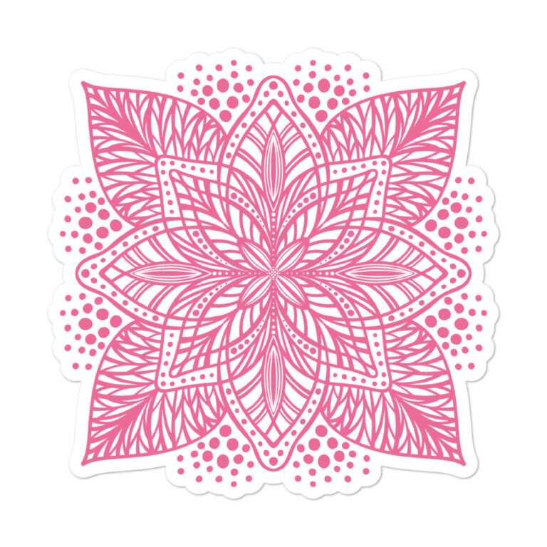 pink flower mandala sticker