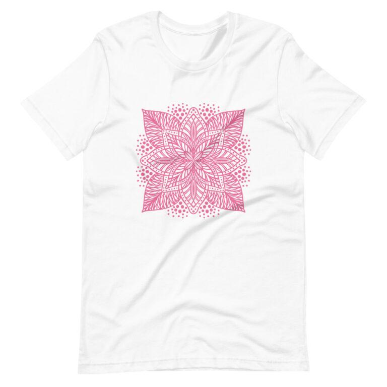 pink flower mandala women's t-shirt