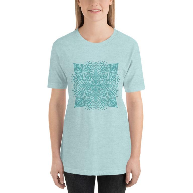 seafoam flower mandala women's t-shirt