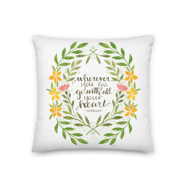 wherever you go pillow
