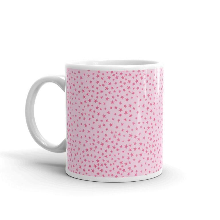 whimsical stars mug left side