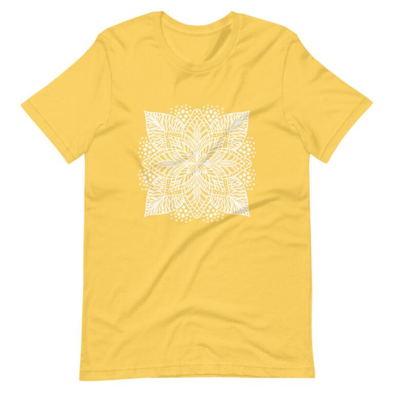 yellow flower mandala women's t-shirt