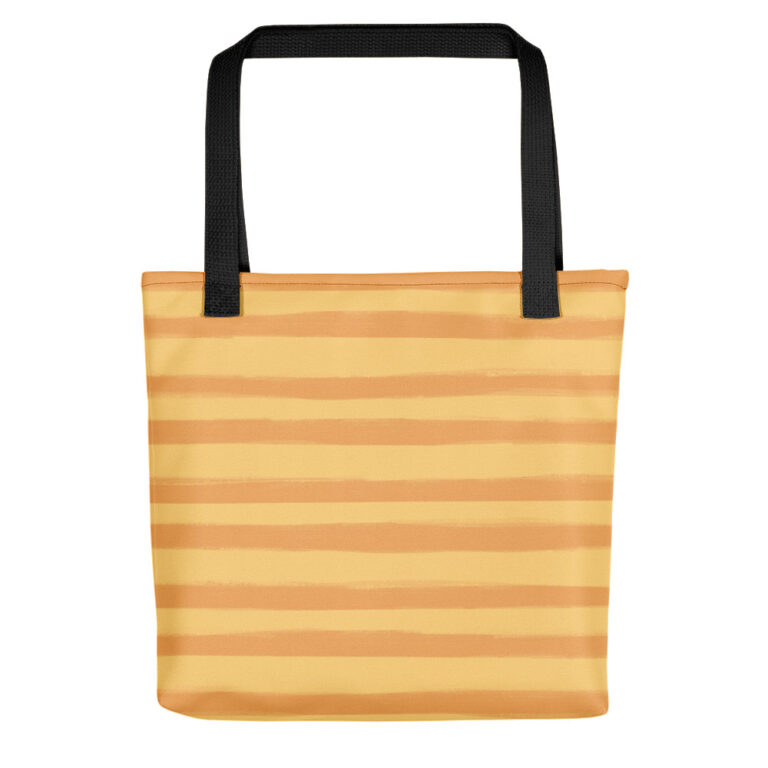 This playful hand-drawn illustration is featured on a functional tote bag that you can take anywhere you go. Get your own Citrus Creamsicle Tote Bag to hold all of your must-haves! #totebags #stripetotebag #stripebag