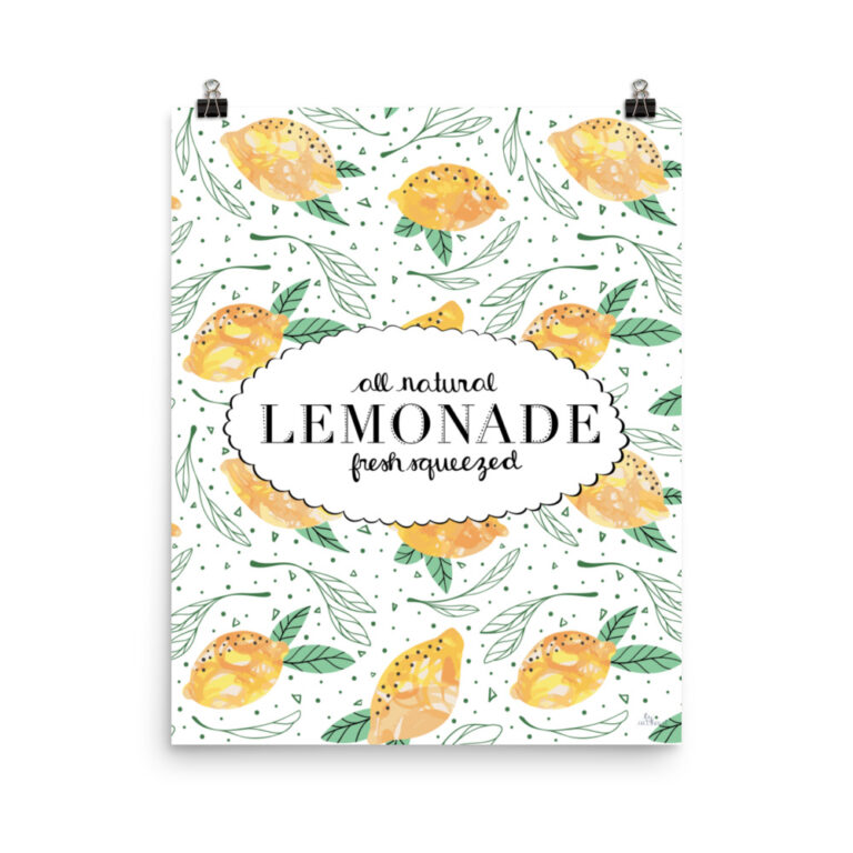 Lemon Pattern Art Print 2