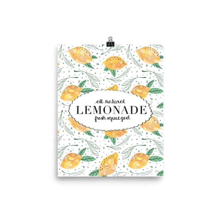 Lemon Pattern Art Print 3