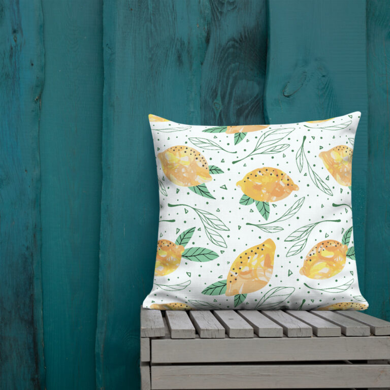 Lemon Pattern Pillow 2
