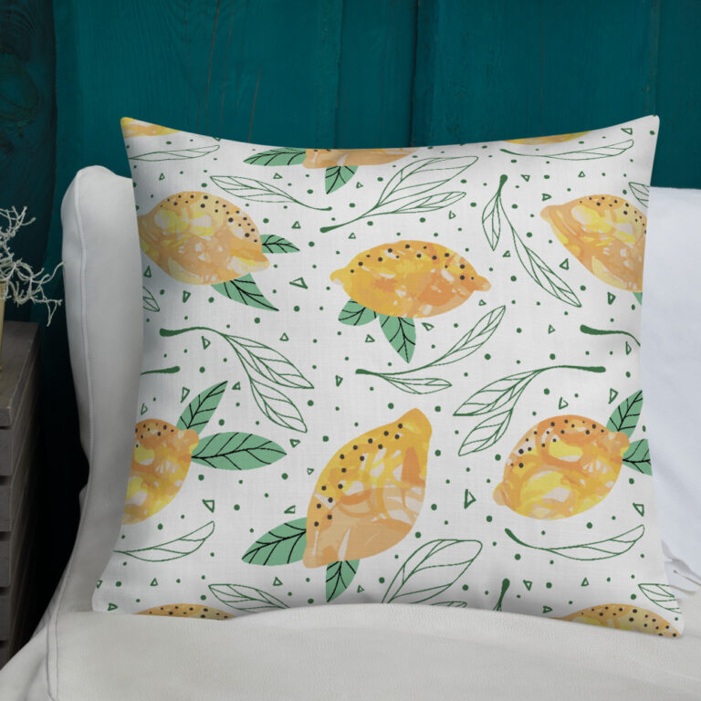 Lemon Pattern Pillow 3