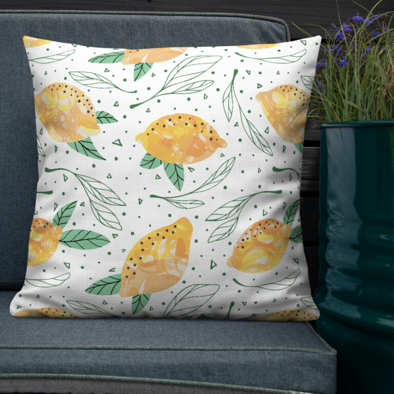 Lemon Pattern Pillow 4