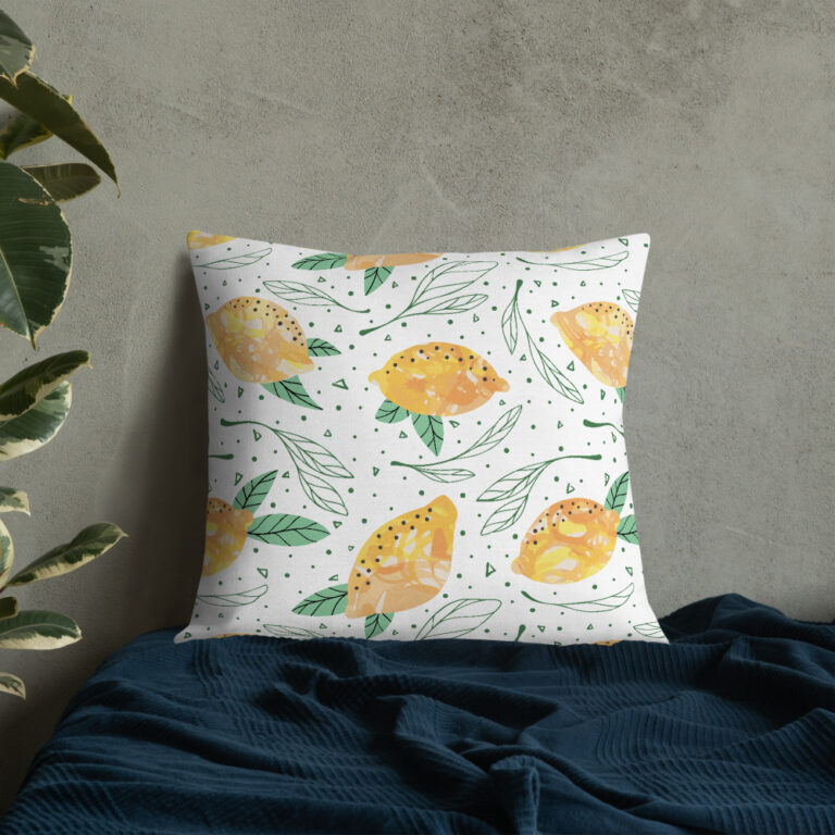 Lemon Pattern Pillow 5
