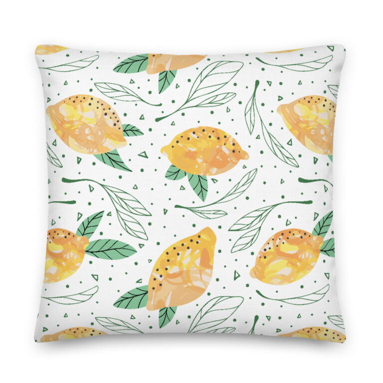 Lemon Pattern Pillow