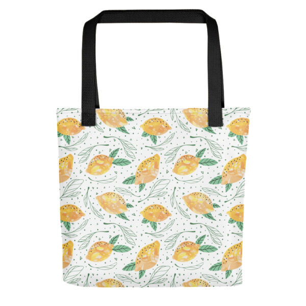 Lemon Pattern Tote Bag