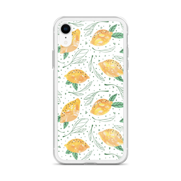 Lemon Pattern iPhone Case10