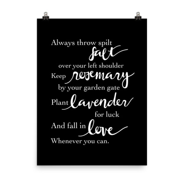 Practical Magic Quote Art Print