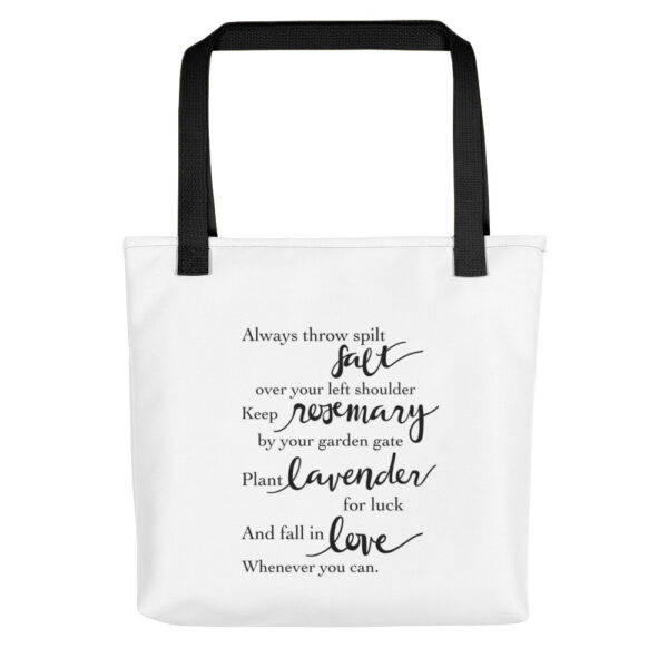 Practical Magic Quote Tote Bag in White