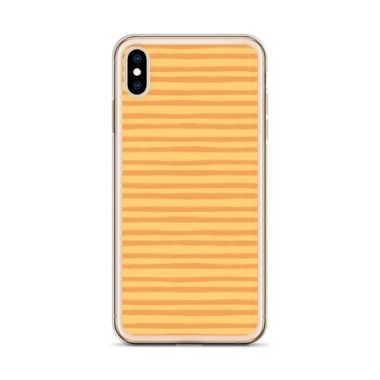 This sleek Citrus Creamsicle iPhone Case protects your phone from scratches, dust, oil, and dirt. #stripephonecase #orangephonecase #orangeiphonecase #stripedesign