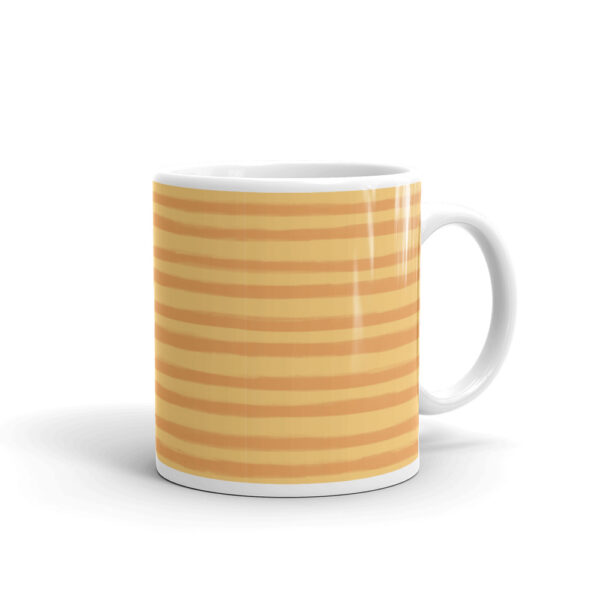 Whether you're drinking your morning coffee, evening tea, or something in between – this Citrus Creamsicle Mug's for you! #stripedesign #orangestripes #stripecoffeecup #orangestripemug