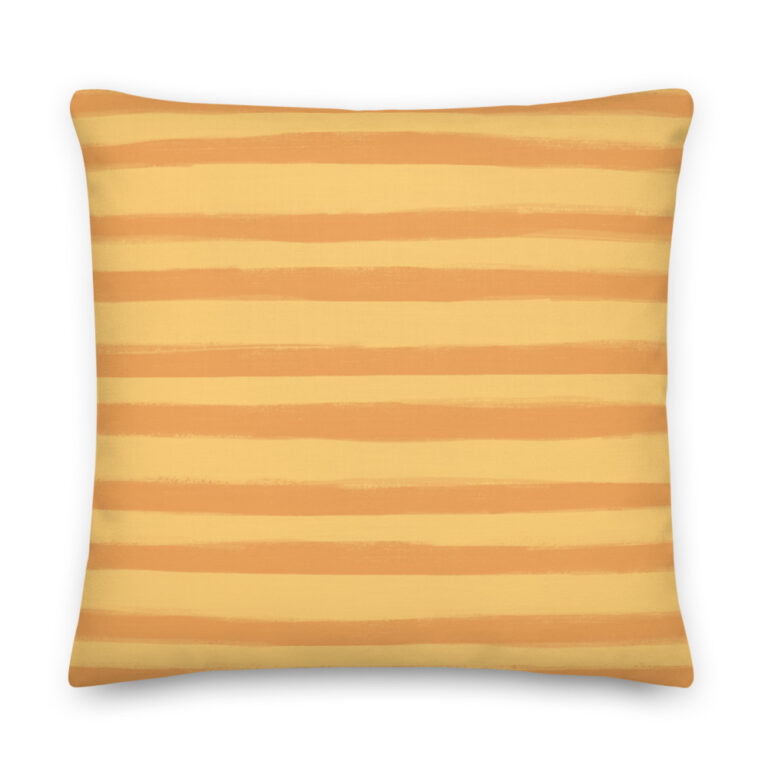 Want to add a splash of color to your home? This Citrus Creamsicle Pillowwith a shape-retaining insert is just what you're looking for! #stripepillow #orangepillow #summerdecor