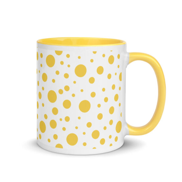 Whether you're drinking your morning coffee, evening tea, or something in between – this Lemon Dots Mug's for you! #dots #dotmug #yellowdotmug #dotdesign #yellowcoffeecup