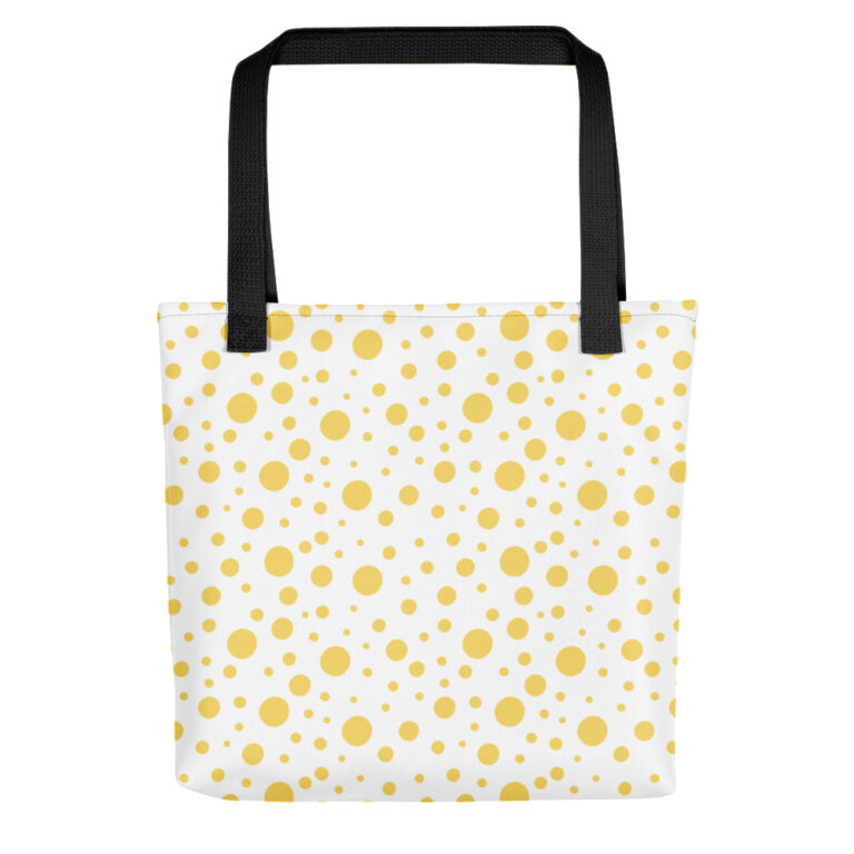 lemon dots tote bag