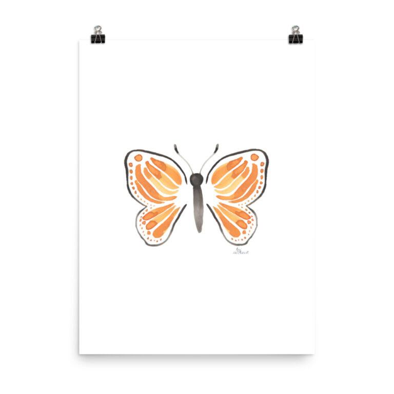 monarch butterfly art print 3