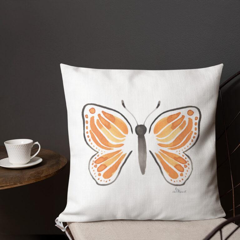monarch butterfly pillow 2