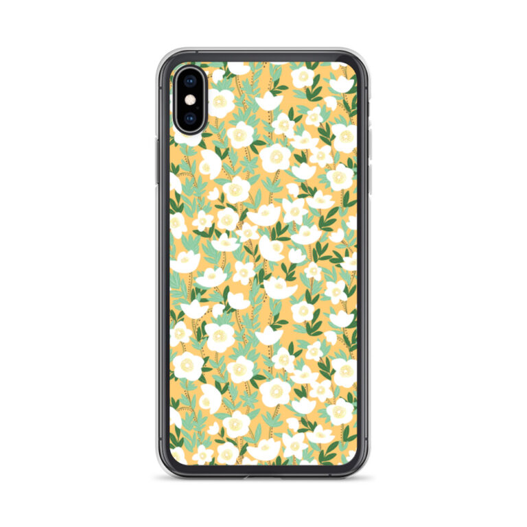 This sleek Lemonade Orange Wildflowers iPhone Case protects your phone from scratches, dust, oil, and dirt. #wildflowerphonecase #wildflowerphone #wildflowerdesign
