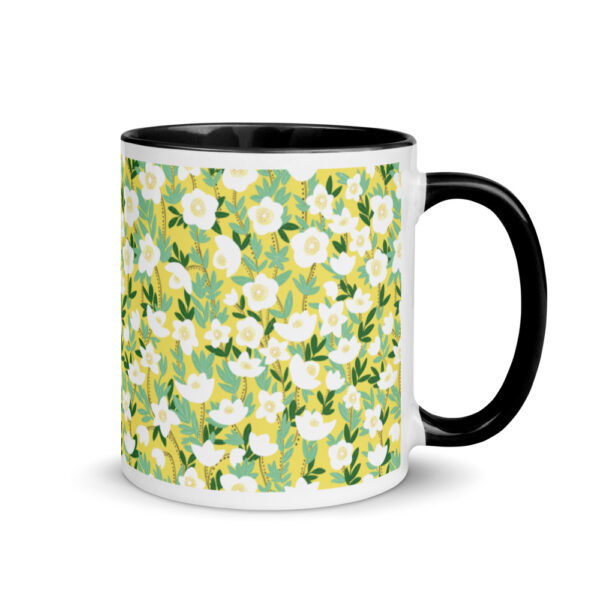 Whether you're drinking your morning coffee, evening tea, or something in between – this Lemonade Yellow Wildflowers Mug's for you! #wildlfowermug #orangewildflower #wildflowercoffeemug #wildflowerdesign