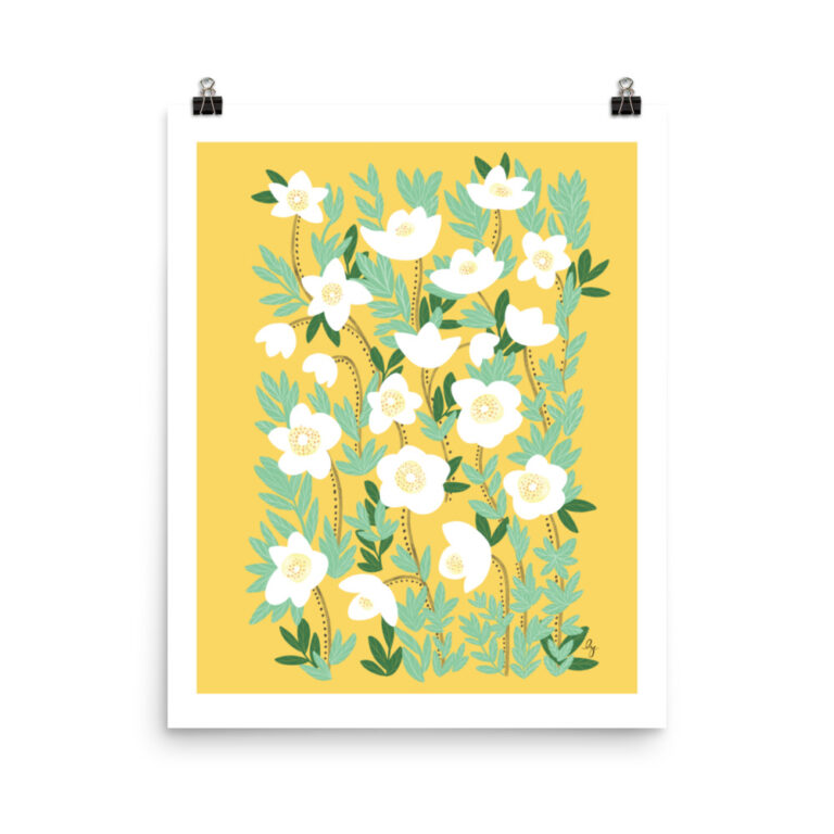 Add a gorgeous accent to any room in your home with this LemonaYellow Wildflowers Art Printthat is sure to brighten any environment. #flowerartprint #wildflowerartprint #flowerposter #yellowflowerartprint
