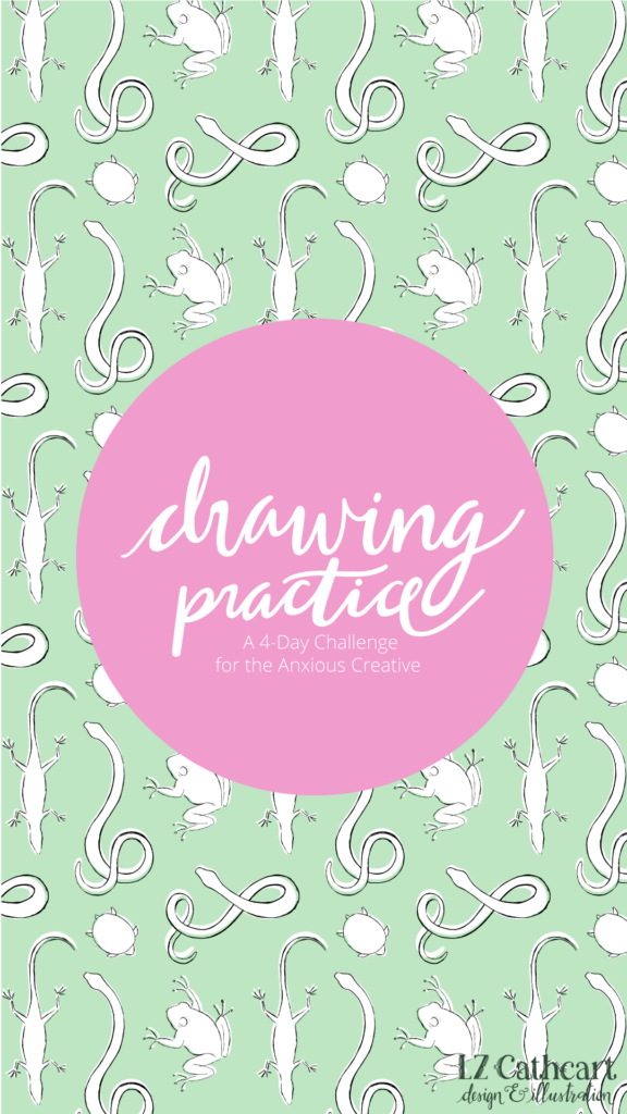 Do you want to know the easy way to start a daily drawing practice? Learn how with a 4-day mini-challenge! #drawingpractice #drawingchallenge #sketching #sketchbook #dailydrawing #artist #lzcathcart #drawingpracticeexercises #drawingpracticebeginner #drawingpracticepencil