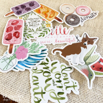 NEW in the Shop: Sticker Designs