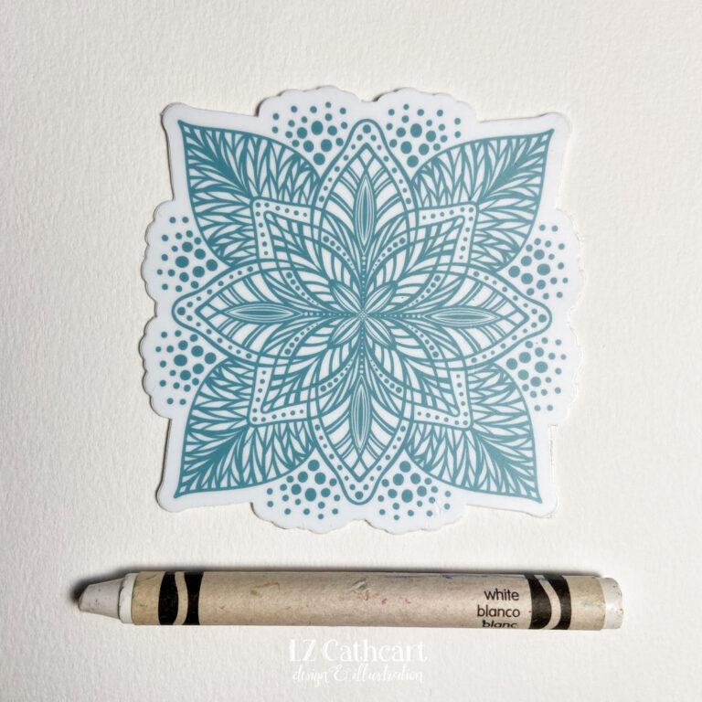 aqua mandala sticker