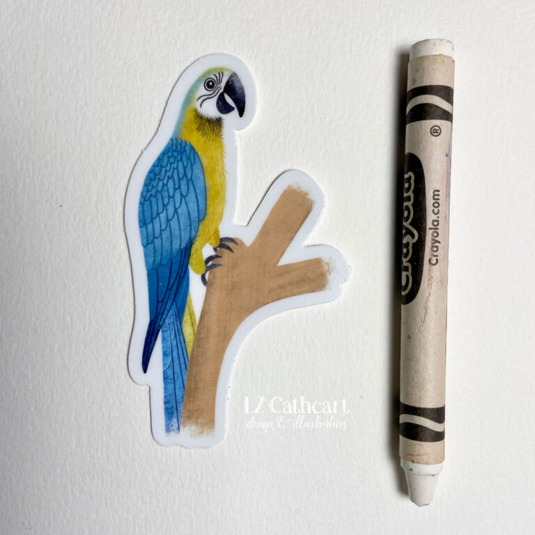 gold parrot stickers