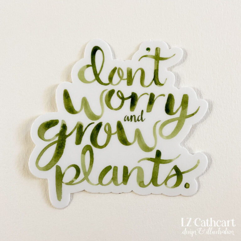 grow plants sticker