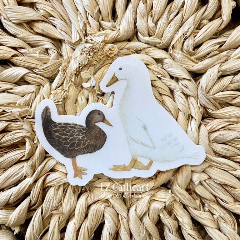 farm ducks sticker