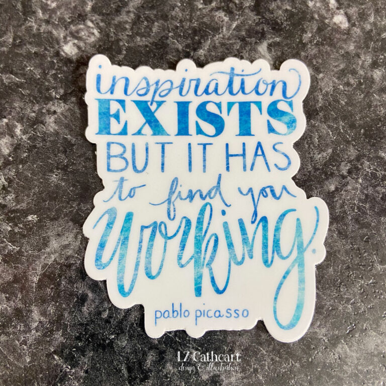 inspiration exists sticker