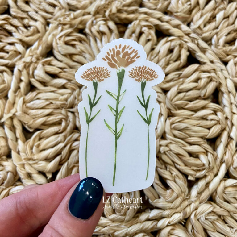 marigolds sticker