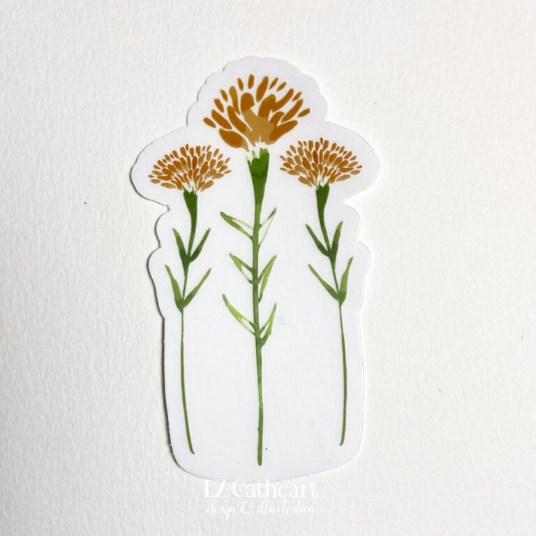marigolds sticker 3