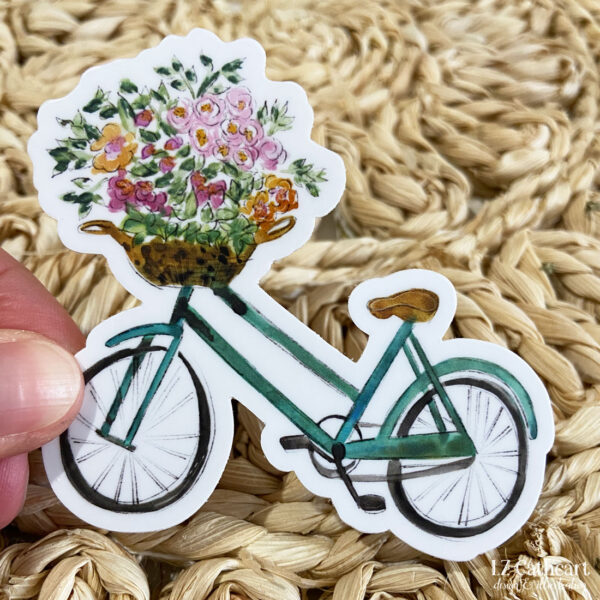 bike flower bouquet