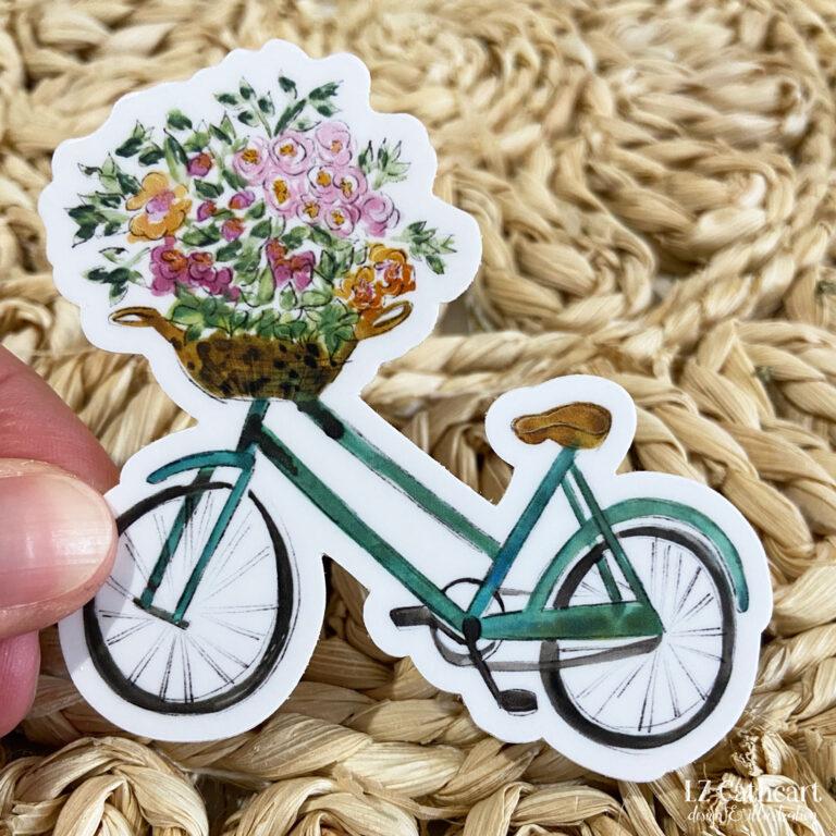 bike flower bouquet