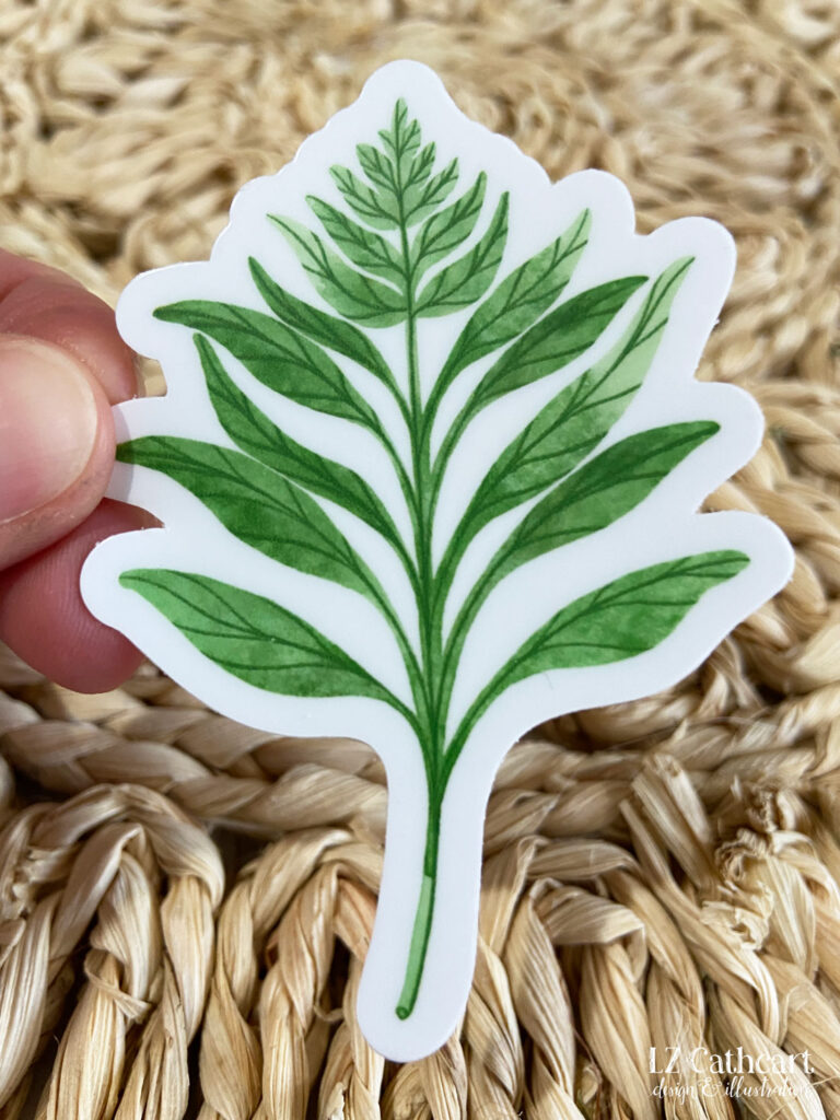 fern sticker