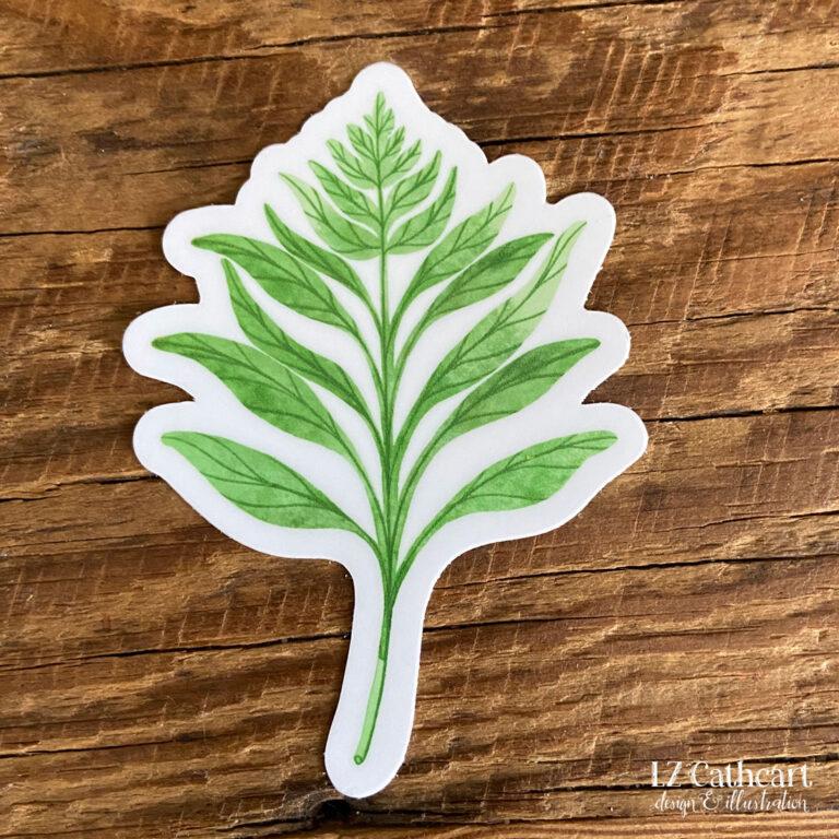green fern sticker